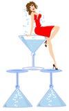 Голубая повелительница Martini Стоковая Фотография RF