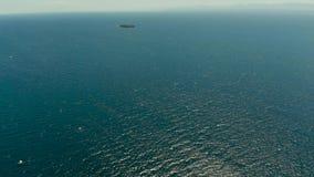 Голубая поверхность моря, взгляд сверху акции видеоматериалы