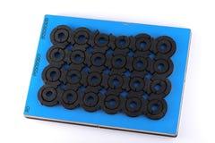 голубая поверхность печатания краски Стоковая Фотография