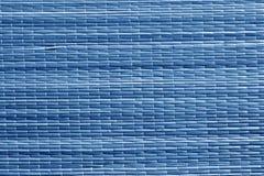 Голубая поверхность циновки соломы цвета Стоковая Фотография