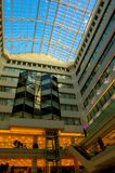 голубая покупка центра потолка Стоковая Фотография