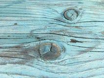 Голубая полка таблицы в конце-вверх Стоковое Изображение