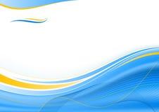 голубая померанцовая волна Стоковое Фото