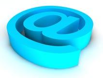 голубая почта e иллюстрация вектора