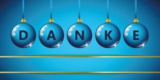 Голубая предпосылка безделушки рождества спасибо голубая бесплатная иллюстрация