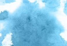 Голубая предпосылка бумаги текстуры акварели цветка, красивая творческая планета иллюстрация штока