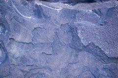 Голубая предпосылка гранита геологохимический, текстура Стоковое Изображение RF