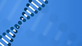 Голубая предпосылка движения с поворачивать строку ДНК акции видеоматериалы