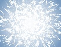 Голубая предпосылка картины снежинки зимы стоковое изображение