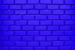 Голубая предпосылка кирпичной стены/голубая текстура кирпичной стены Стоковая Фотография