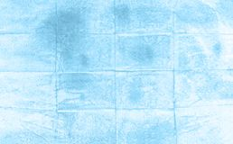 Голубая предпосылка краски руки акварели, иллюстрация растра Бесплатная Иллюстрация