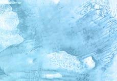 Голубая предпосылка краски руки акварели, иллюстрация растра иллюстрация вектора