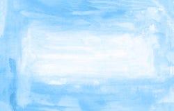 Голубая предпосылка краски руки акварели рамки, иллюстрация растра иллюстрация штока