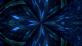 Голубая предпосылка освещения диско сток-видео