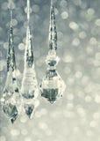 Голубая предпосылка рождества яркия блеска Стоковая Фотография RF