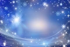 Голубая предпосылка рождества Стоковые Изображения RF
