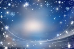 Голубая предпосылка рождества Стоковое Изображение RF