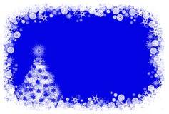 Голубая предпосылка рождества Стоковые Изображения