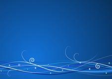 Голубая предпосылка рождества иллюстрация штока