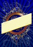 Голубая предпосылка с знаменем Стоковое Изображение