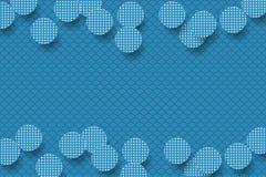 Голубая предпосылка с круглыми украшенными формами стоковые фото