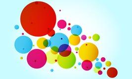 Голубая предпосылка с пестроткаными кругами иллюстрация вектора