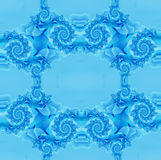 Голубая предпосылка с фракталями Стоковая Фотография RF