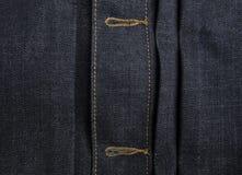 Голубая предпосылка текстуры джинсов джинсовой ткани ткани Стоковые Фото