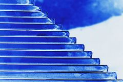 Голубая предпосылка текстуры Стоковое Фото
