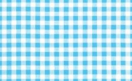 Голубая предпосылка ткани пикника Стоковые Фотографии RF