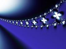 Голубая предпосылка фрактали цветка Стоковое Изображение