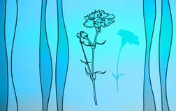 Голубая предпосылка цветка Стоковая Фотография RF