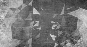 Голубая предпосылка grunge треугольников Стоковые Изображения RF