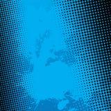 Голубая предпосылка Halftone Splatter Стоковое фото RF