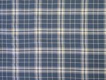 голубая проверенная ткань стоковое фото rf