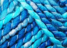 голубая пряжа шерстей Стоковое Изображение RF