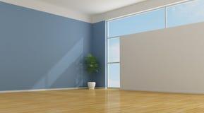 голубая пустая комната Стоковая Фотография RF