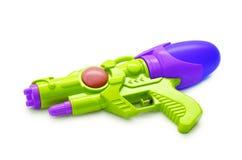 голубая пушка squirt белизна изолированная предпосылкой Стоковая Фотография RF