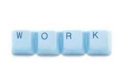 голубая работа клавиатуры титра Стоковое Изображение