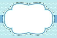 голубая рамка пузыря богато украшенный Стоковая Фотография RF