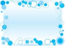 голубая рамка пузыря Стоковые Фотографии RF
