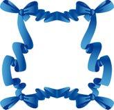 Голубая рамка с смычком Стоковые Фотографии RF