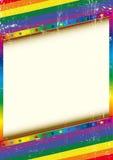 Голубая рамка с текстурой Стоковая Фотография