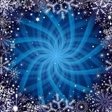 голубая рамка темноты рождества Стоковое фото RF