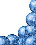 голубая рамка угла рождества Стоковое Изображение RF