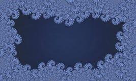 голубая рамка фрактали Стоковое Изображение RF