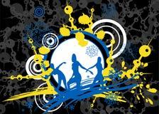 голубая рамка цвета над разлено Стоковое Изображение