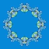 голубая рамка бесплатная иллюстрация