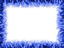 голубая рамка Стоковая Фотография