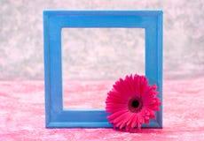 голубая рамка стоковое фото rf